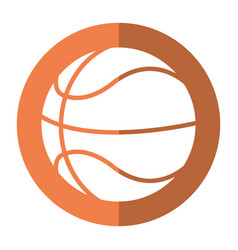 basketball ball play shadow vector image vector image