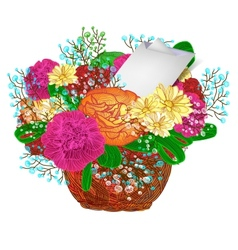 Bouquet of bright flowers eps 10 vector