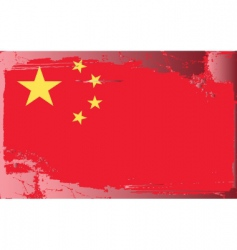 china national flag vector image vector image
