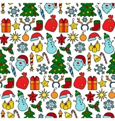 Christmas patch seamless pattern vector