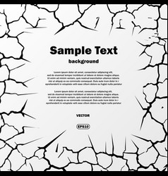 Cracks square with text vector