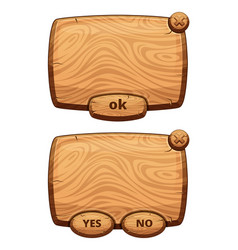 different wooden panels for game cartoon vector image vector image