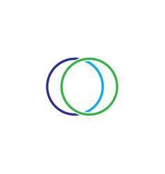 double circle logo vector image