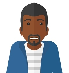 Embarrassed an african-american man vector