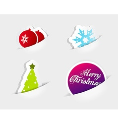 Four icons symbolizing christmas slipped in to vector