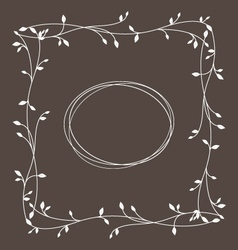frame with floral ornament vector image vector image