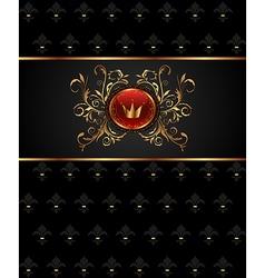 golden frame with heraldic elements - vector image vector image