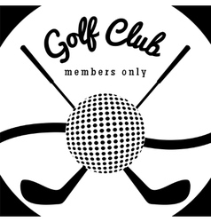 Golf club sport poster vector
