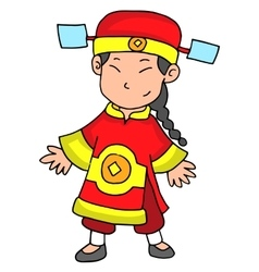 Happy chinese new year 2017 character vector