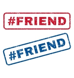 Hashtag Friend Rubber Stamps vector image