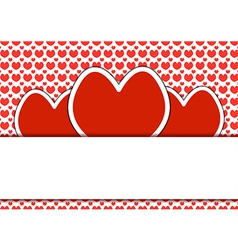 Heart shapes background of valentins day vector