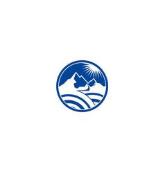 high mountain shine logo vector image