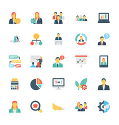 Human resources and management icons 2 vector