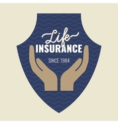 Life insurance logo vector image vector image