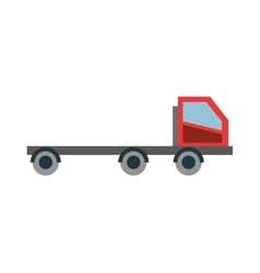 Low bed truck icon vector