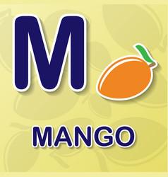 Mango alphabet background vector