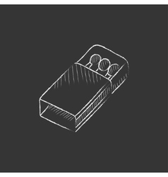 Matchbox Drawn in chalk icon vector image vector image