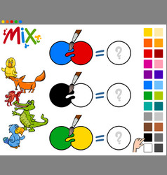 Mix colors educational activity vector