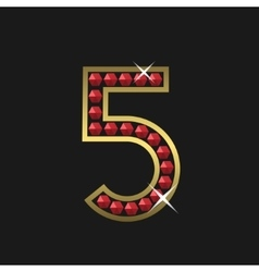 Number five symbol vector