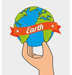 Planet earth design vector image
