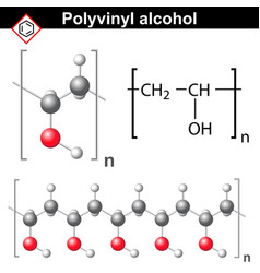 Polyvinyl alcohol polymer chemical structure vector image vector image