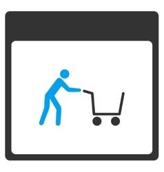 Shopping cart calendar page toolbar icon vector