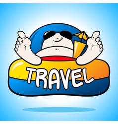 Tourist on vacation sign vector image