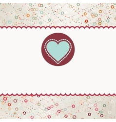 Valentine Heart card vector image vector image