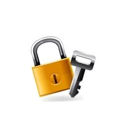 Web Lock icon vector image vector image