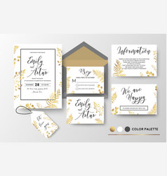 wedding invite invitation thank you rsvp label vector image