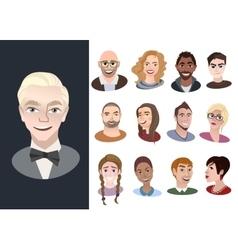 Set of international cartoon avatar icons vector