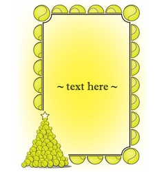 Frame with tennis ball vector
