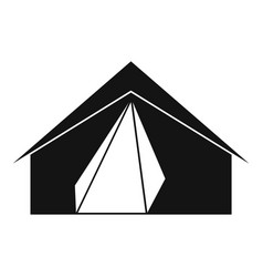 Open tent icon simple style vector