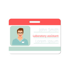 laboratory assistant medical specialist badge vector image