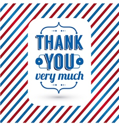 Thank you card on tricolor grunge background vector