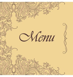 Ornate menu design vector