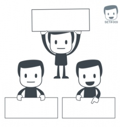 placard icon man set vector image