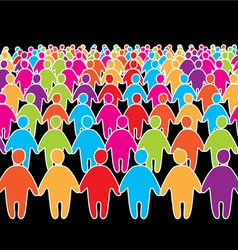 social people group vector image