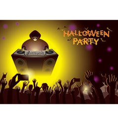 Halloween dj party concert vector