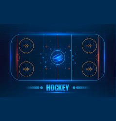 Hockey stadium on top vector