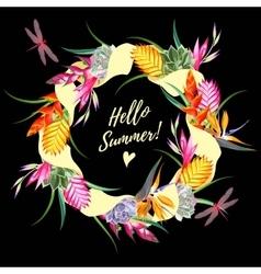 Hello summer card vector