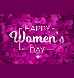 abstract hearts background womens day vector image vector image
