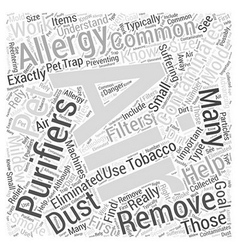 Allergy air purifiers do they really work word vector