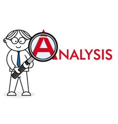 Analyst looking closely vector image