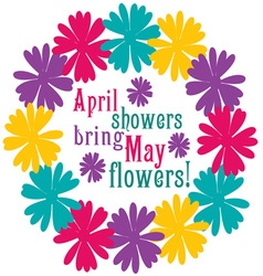 April showers vector