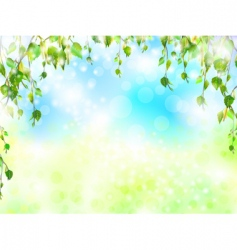 bright summer vector image vector image