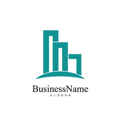 building construction business logo vector image