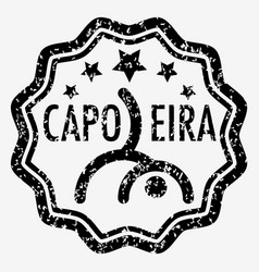 capoeira grunge rubber stamp vector image vector image