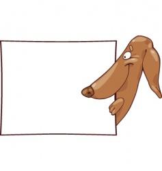 Cartoon dachshund vector