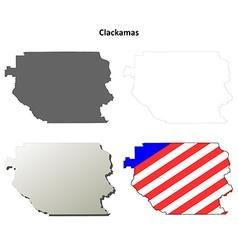 Clackamas Map Icon Set vector image vector image
